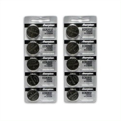 CR2032 Coin Cell Batteries (10 Pack)
