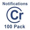 Notification Credits - 100